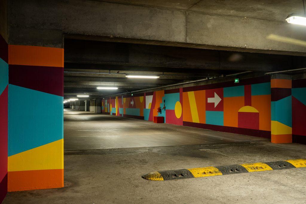 Caroline Derveaux. parking RIVP x Yespark / Photo by Felix Fander.